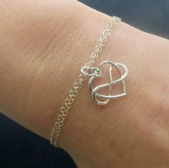 Great Gift Idea For Your Daughter On Her Wedding Day Entwined Infinity Heart Bracelet In Your Daughter Wedding Gifts Wedding Gifts For Bride Wedding Day Gifts