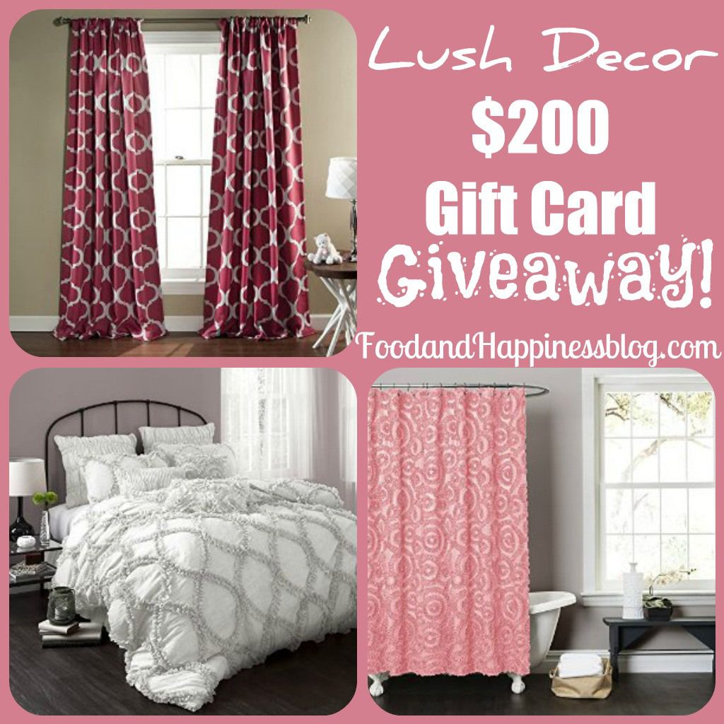 Lush decor 200 gift card giveaway with images lush
