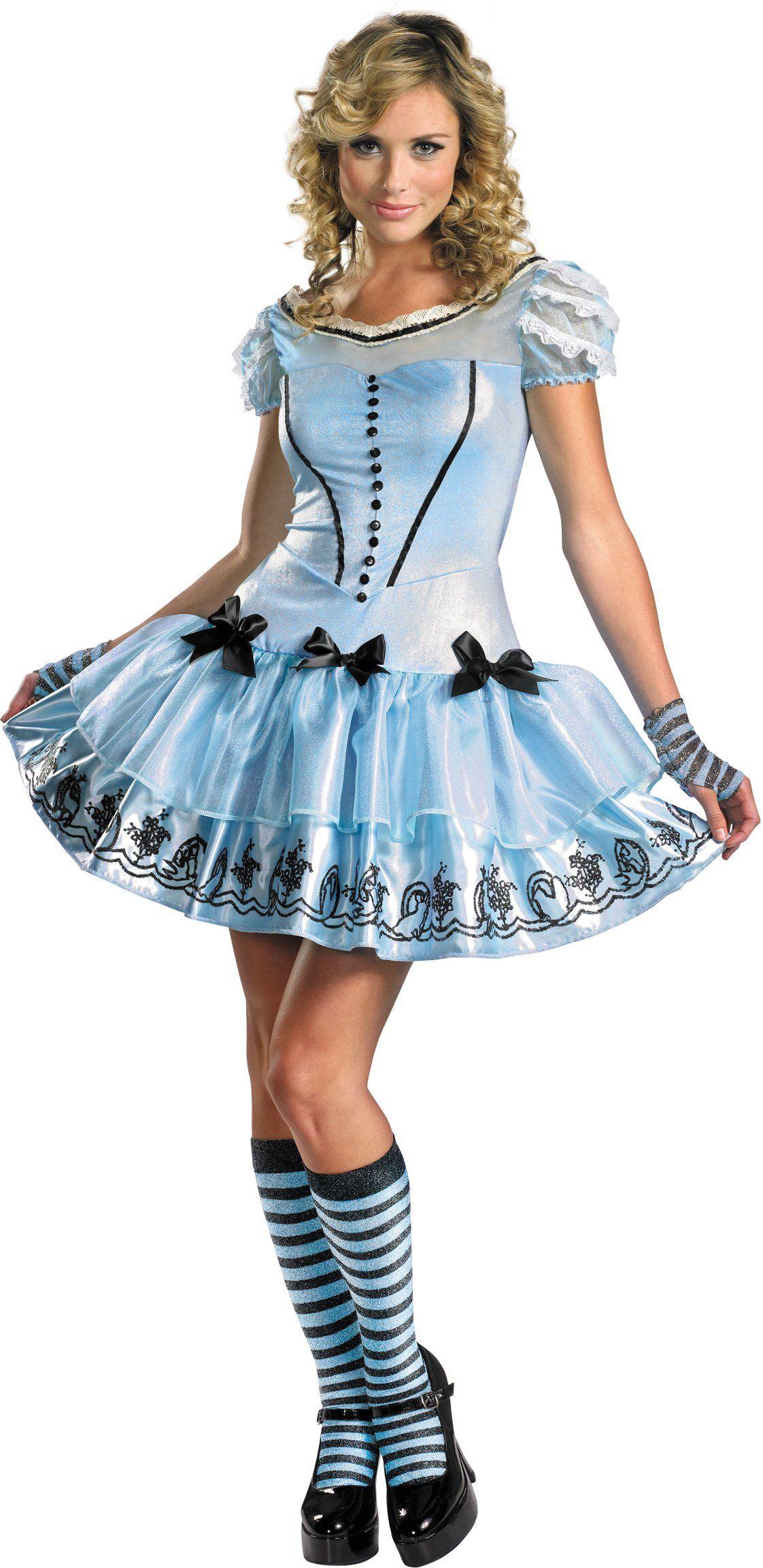 Alice In Wonderland Movie - Sassy Blue Dress Alice Adult Costume ...
