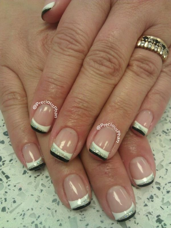 classic french nail design