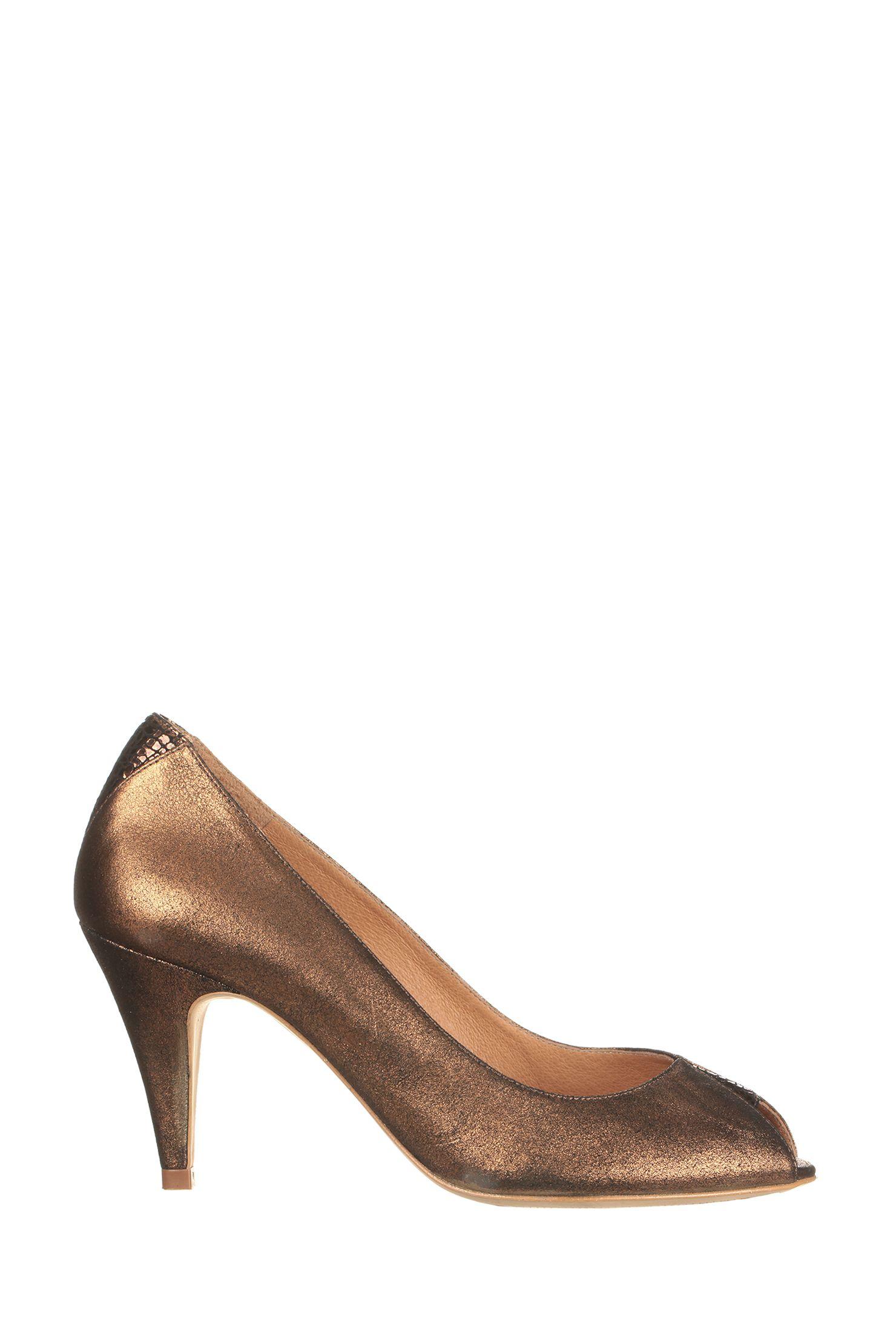 escarpins bout ouvert cuir paillet s discotheca dor sessun sur shoes. Black Bedroom Furniture Sets. Home Design Ideas