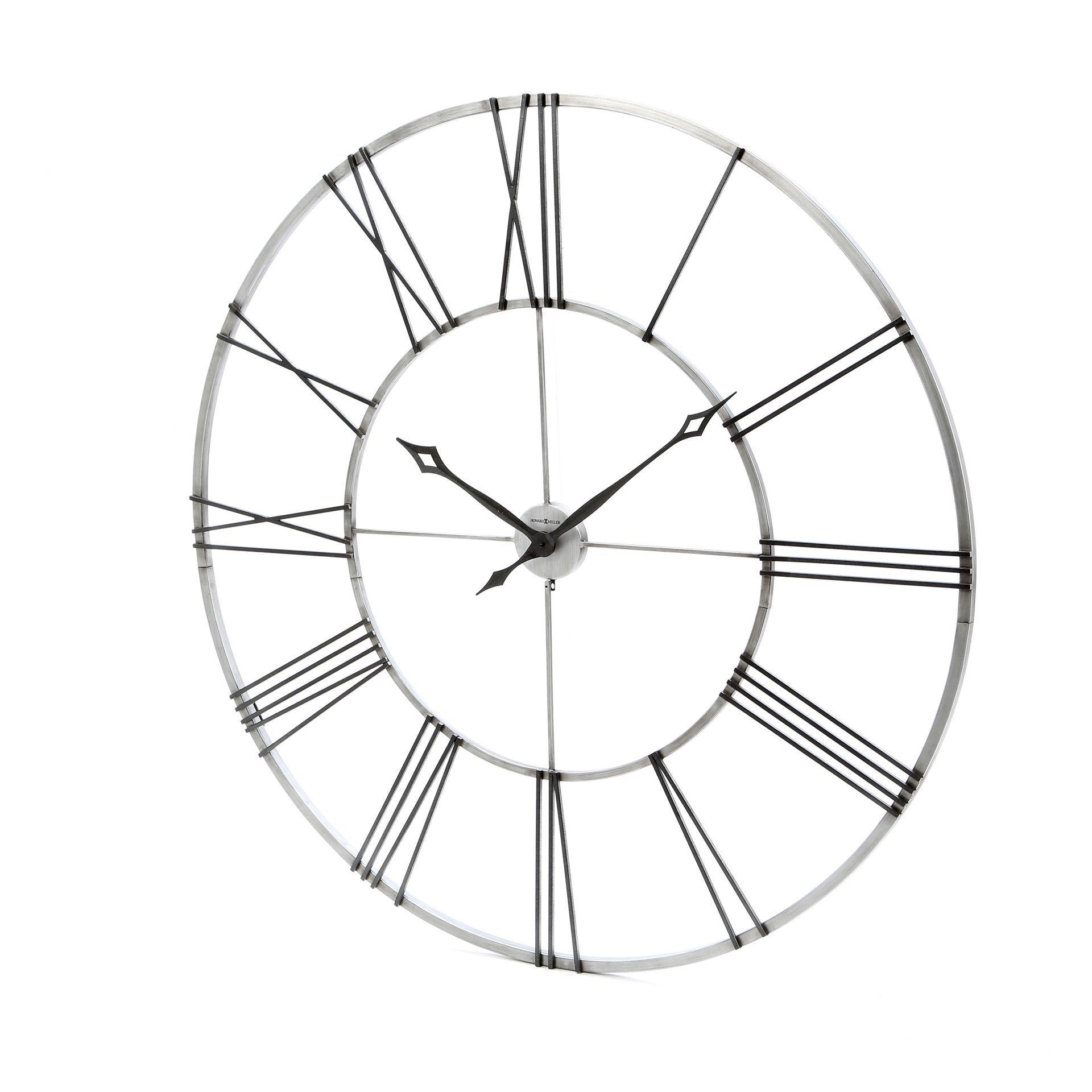 Oversized Stockton 49 Wall Clock Oversized Wall Clock Clock Black Wall Clock Howard miller oversized wall clock