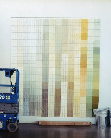 This gallery of color chips showcases a line of Martha Stewart paint.