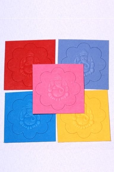 Metaphysical Gifts, Cards, Wrap and Crystals | Life Is A Gift Shop - Ganesh, Remover of Obstacles, Embossed Flower Die-Cut Sticker in Ten Colors, $6.00 (http://lifeisagiftshop.com/ganesh-remover-of-obstacles-embossed-flower-die-cut-sticker-in-ten-colors/)
