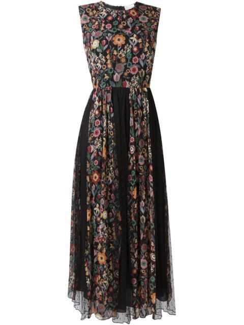 ce58e4fddc2 Shop Red Valentino floral print pleated dress in Russo Capri from the  world s best independent boutiques