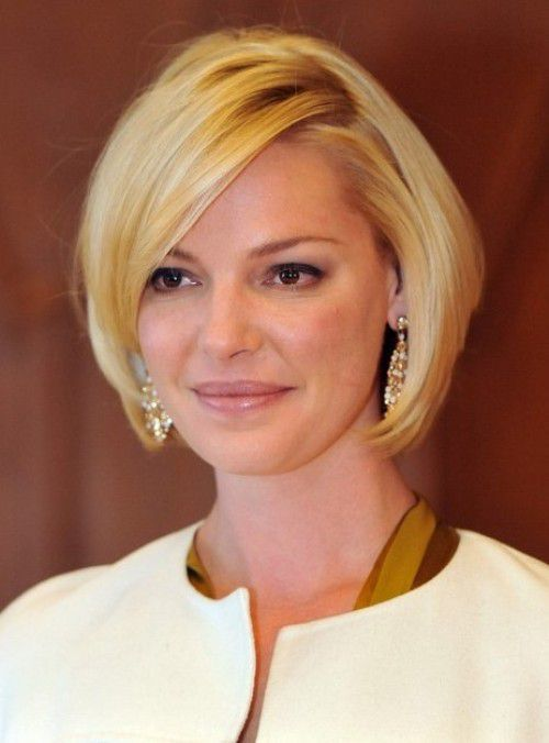 2017 Katherine Heigl Elegant Short Layered Bob Haircuts