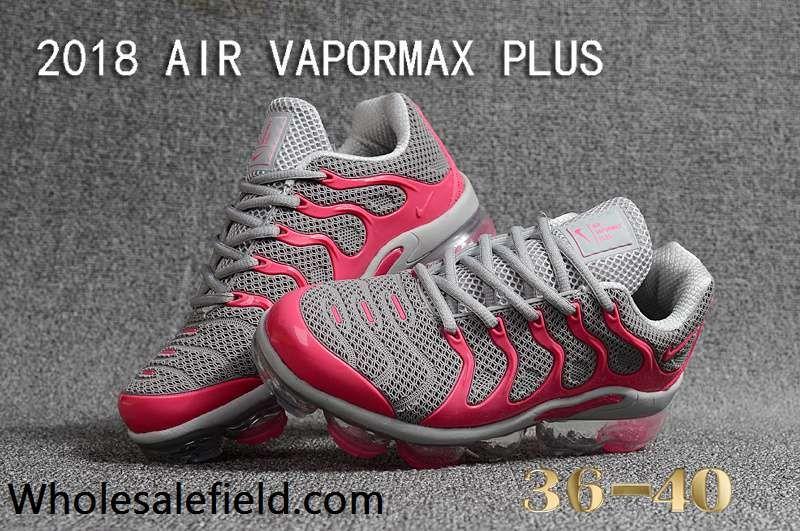 e896b19ef813d NIKE AIR VAPORMAX PLUS TN 2018 Gray Pink Women Shoes