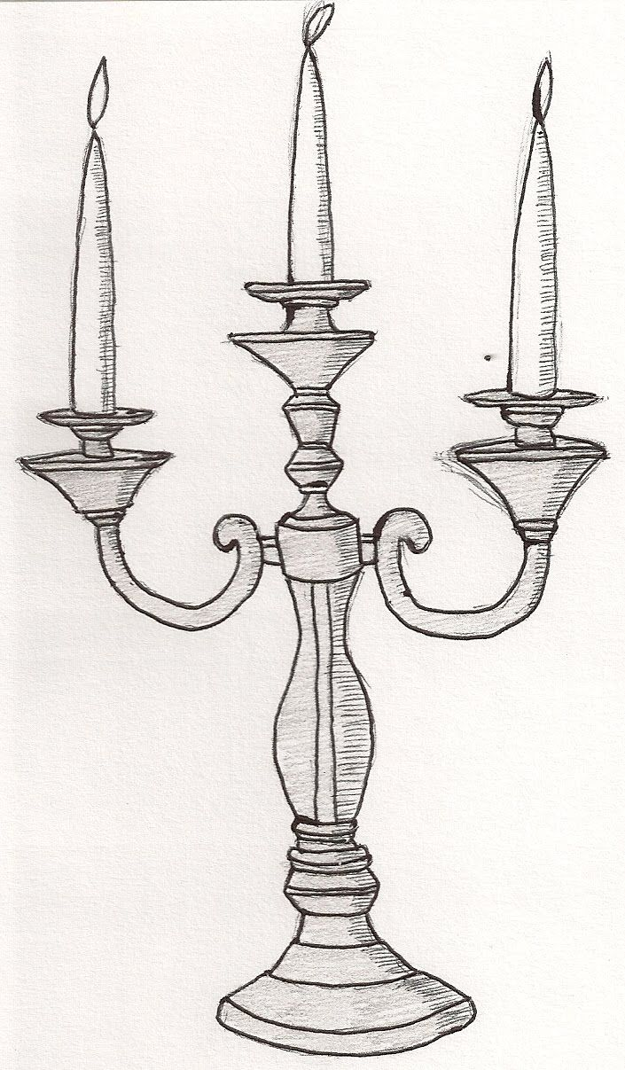 candlestick drawing google search 100 things drawing