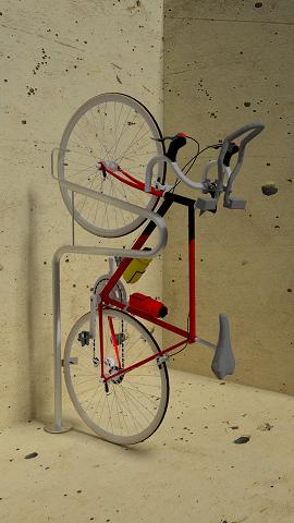 Stand Up Floor Mount Vertical Bike Parking Commercial Bike