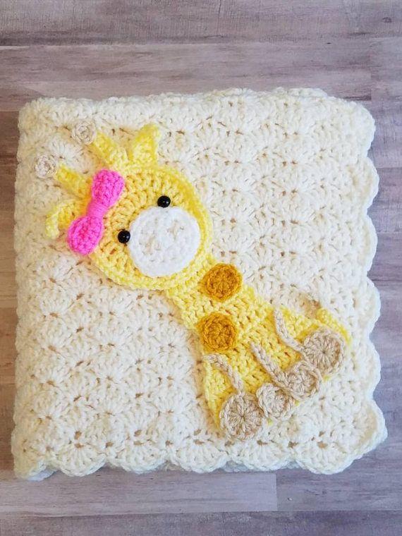 Giraffe Baby Blanket Safari Jungle Zoo Animal Baby Blanket Theme ...