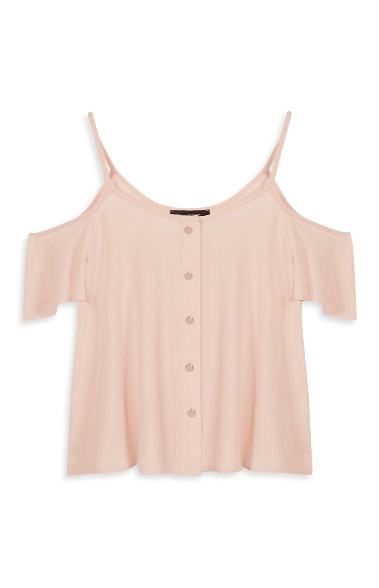 Primark - Roze topje met open schouders