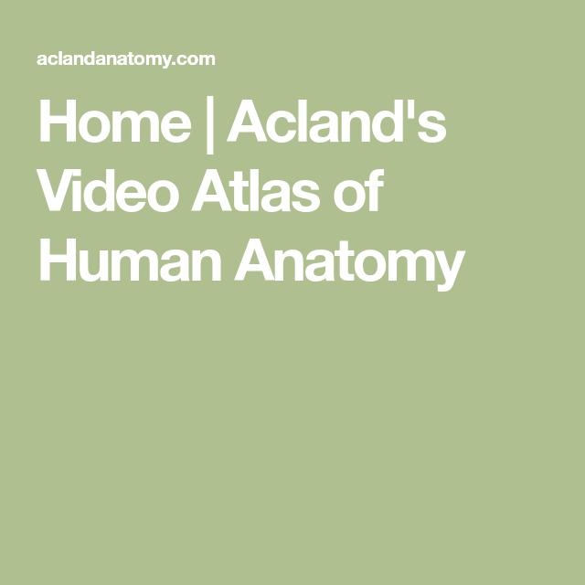 Home | Acland\'s Video Atlas of Human Anatomy | strukturální ...