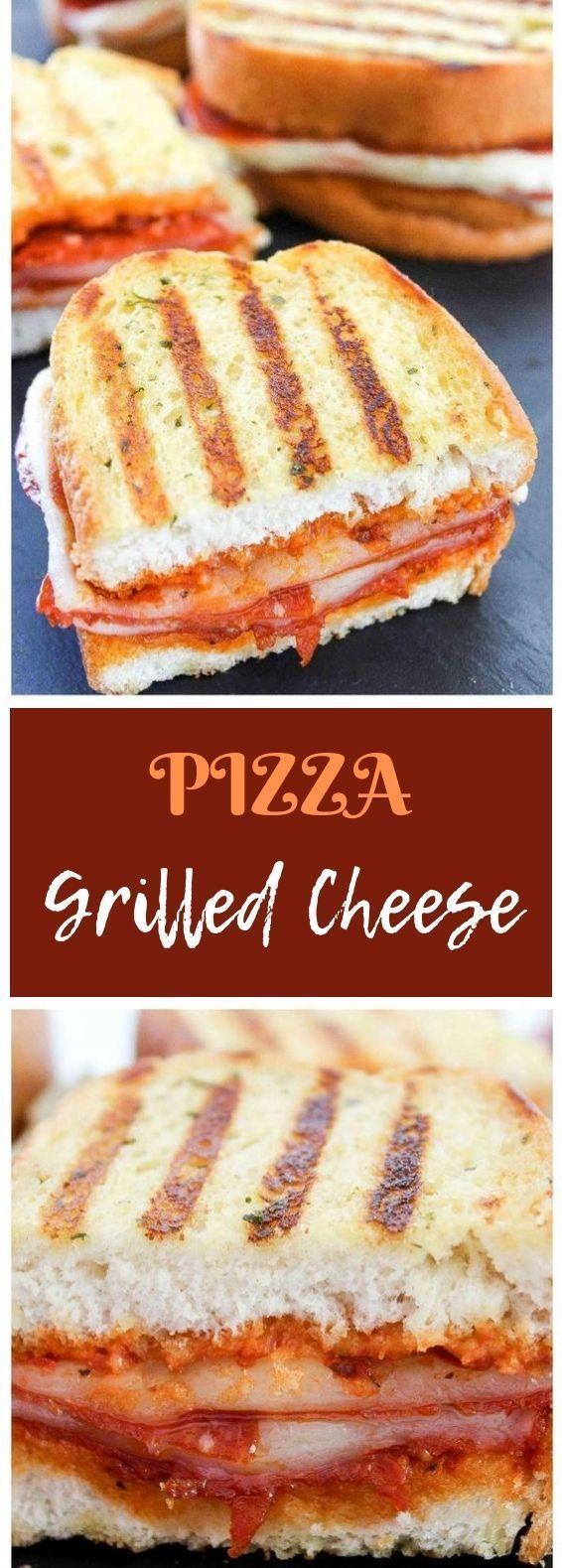 Pepperoni Pizza Gegrillter Käse Pepperoni Pizza Gegrillter Käse