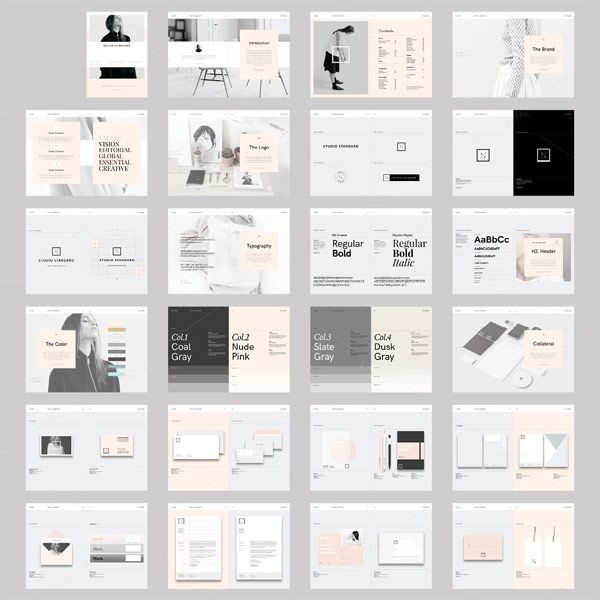 A great studio branding guidelines template in a modern and - blank pamphlet template word