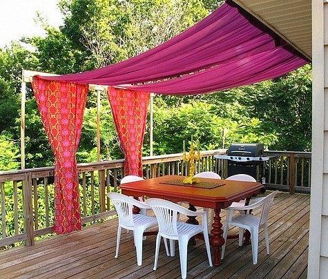 10 inspirerande solskydd för uteplatsen och trädgården Tejidos de