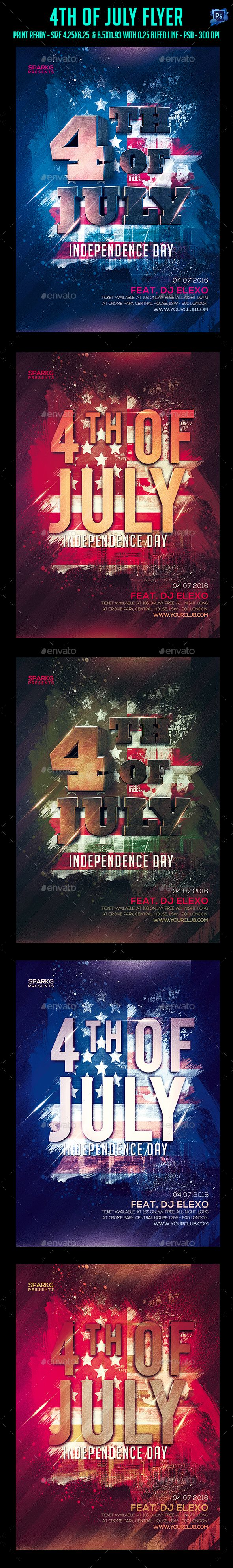 Th Of July Party Flyer  Party Flyer Flyer Template And Psd