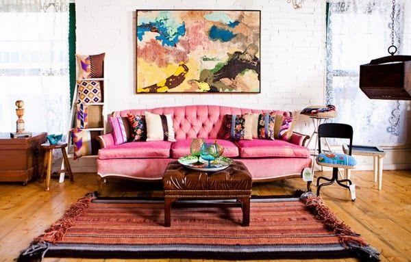 Canapé rose pour décorer votre salon | Brico | Pinterest