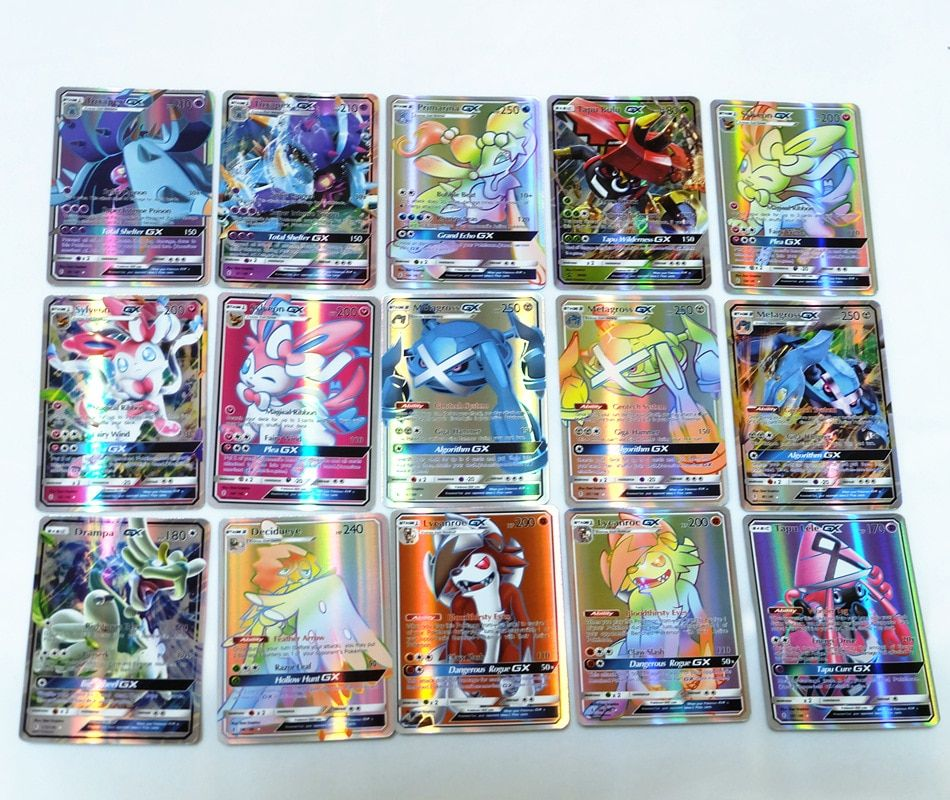 200 pcs gx mega shining cards game battle carte trading