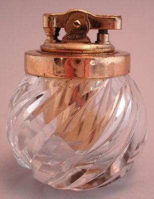 Simson Vintage Lighter Swirled Crystal Ball Germany | eBay