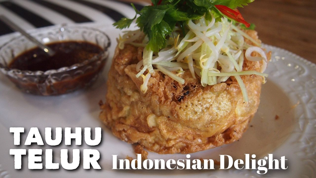 Indonesian Recipe Tauhu Telur Fried Egg With Tofu Youtube Indonesian Food Recipes Grilled Fish Recipes