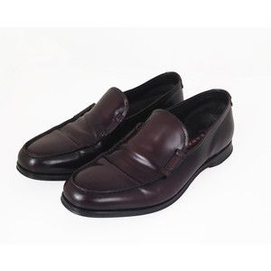 Men's authentic Prada brown leather loafers - Size 7.5