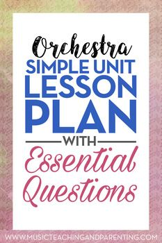 Band Orchestra Choir Sample Unit Lesson Plan  Teacher