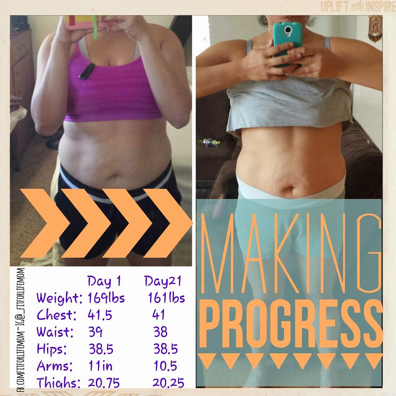 My 21 day fix results. Round 1