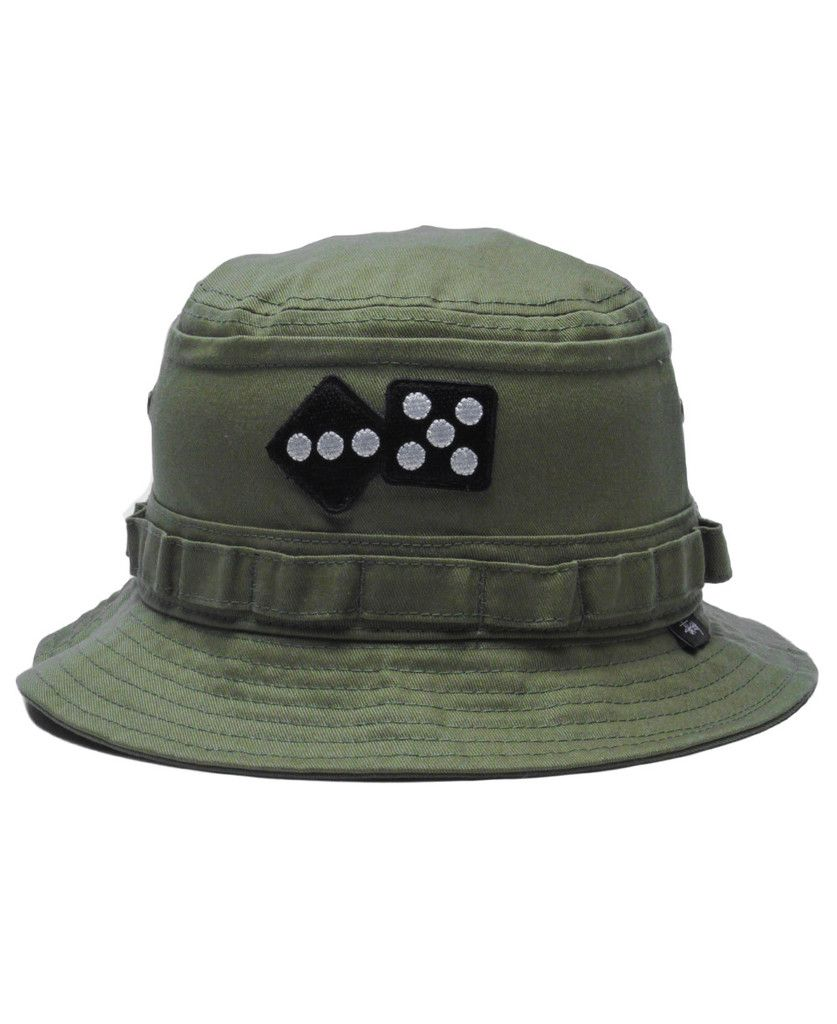 3513aa3cee4 Stussy - Army Bucket Hat (Olive)
