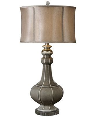 Uttermost Racimo Gray Table Lamp Reviews All Lighting Home Decor Macy S Transitional Table Lamps Ceramic Table Lamps Grey Table Lamps