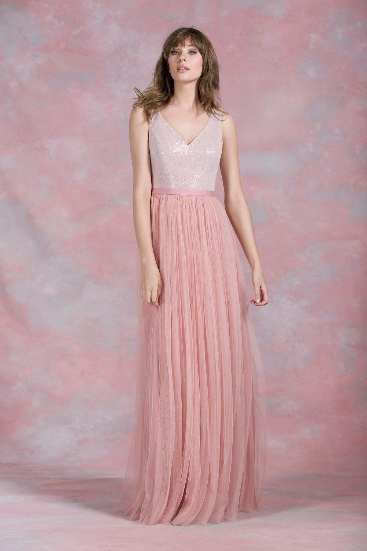 Pale pink bridesmaid dresses delightful styles pinterest