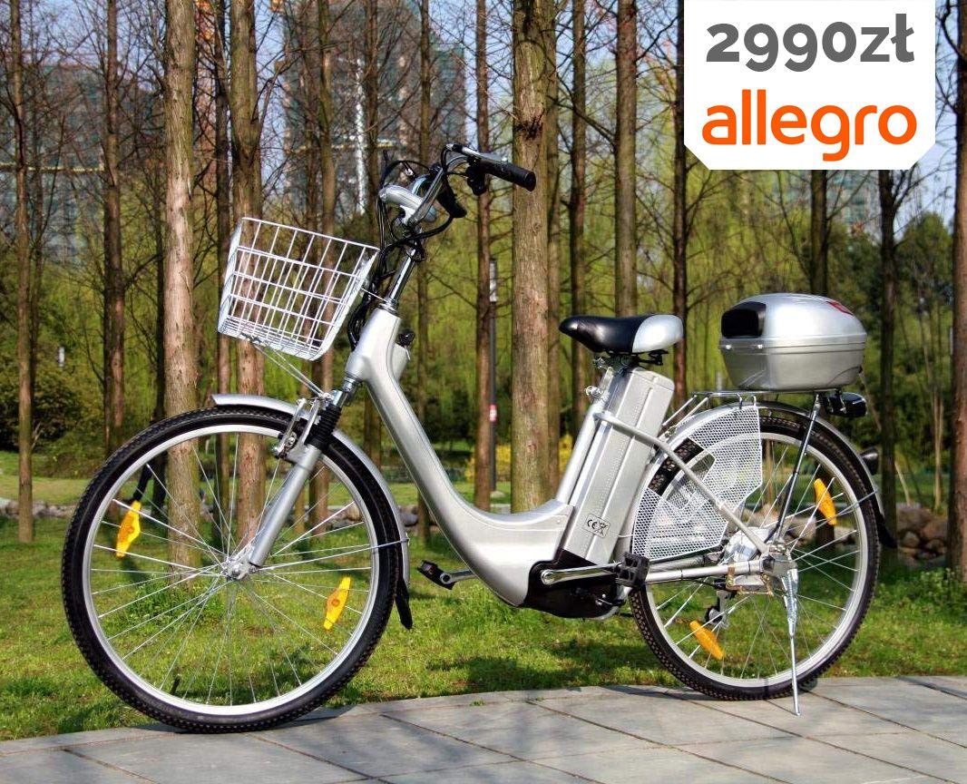 Rower Elektryczny 26 Jagpol Silnik 250w 36v 7700834262 Oficjalne Archiwum Allegro Moped Motorcycle Vehicles