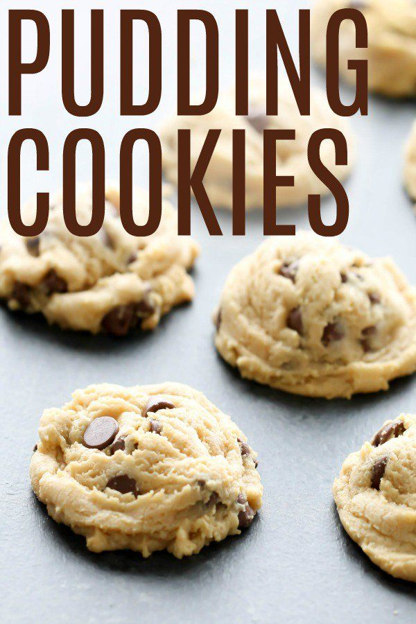 Chocolate Chip Pudding Cookies #chocolatechipcookies
