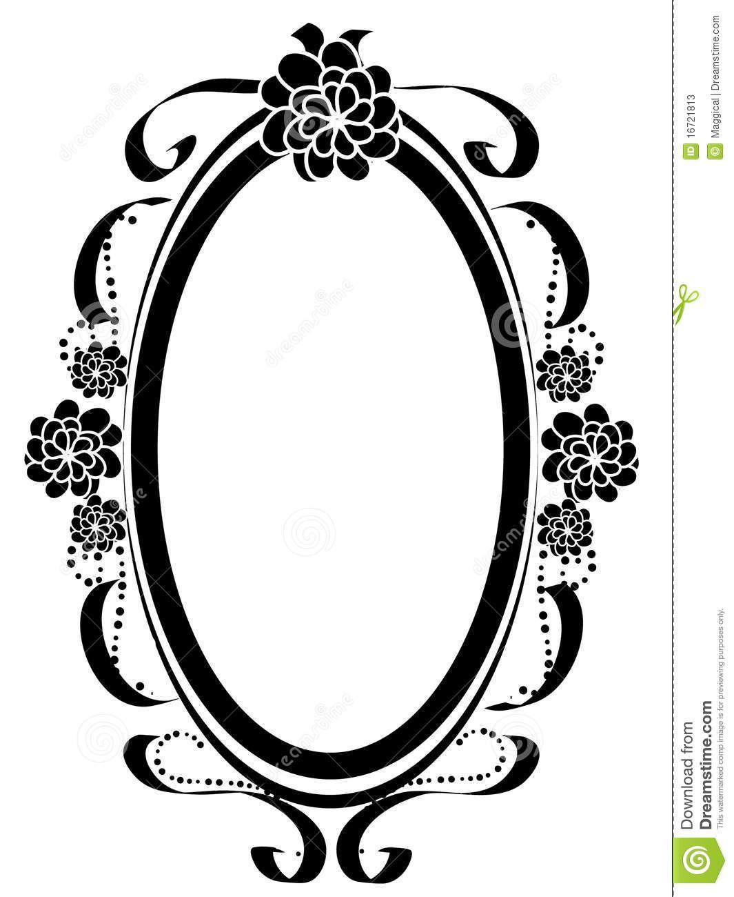 vintage oval frames vector - Pesquisa Google | Artesanato | Pinterest
