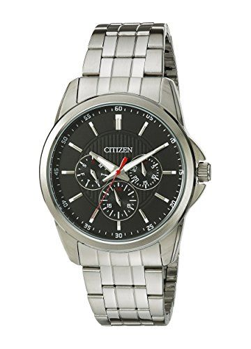 Citizen Mens Quartz Stainless Steel Watch with DayDate AG834058E