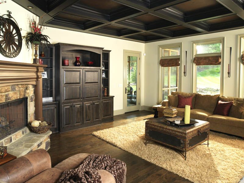 I just love love love a coffered