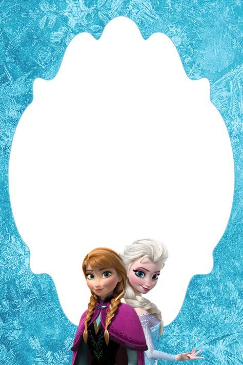4 6 Free Frozen Blank Thank You Card Or Treat Bag Topper Convite