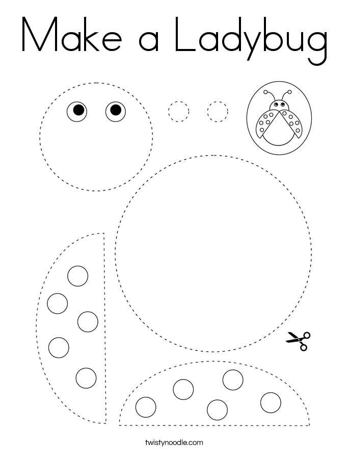 Make a Ladybug Coloring Page - Twisty Noodle in 2020 ...