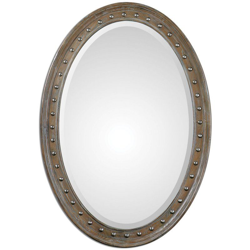 """View the Uttermost 11917 Sylvana 41.5""""W x 29.5""""H Oval Wall Mirror at Build.com."""