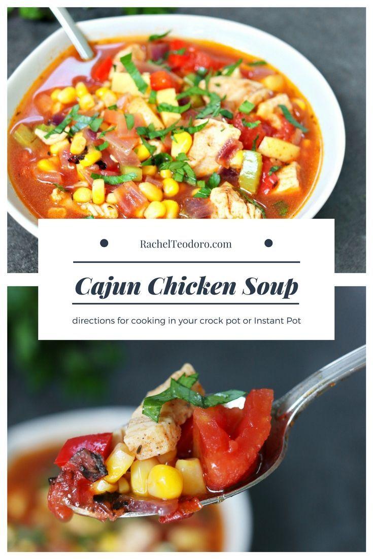 Photo of Easy Homemade Cajun Chicken Soup Recipe in th