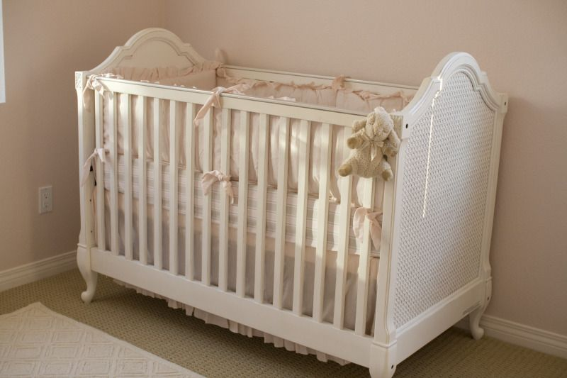 shabby chic dusty rose baby girl nursery for Emily crib