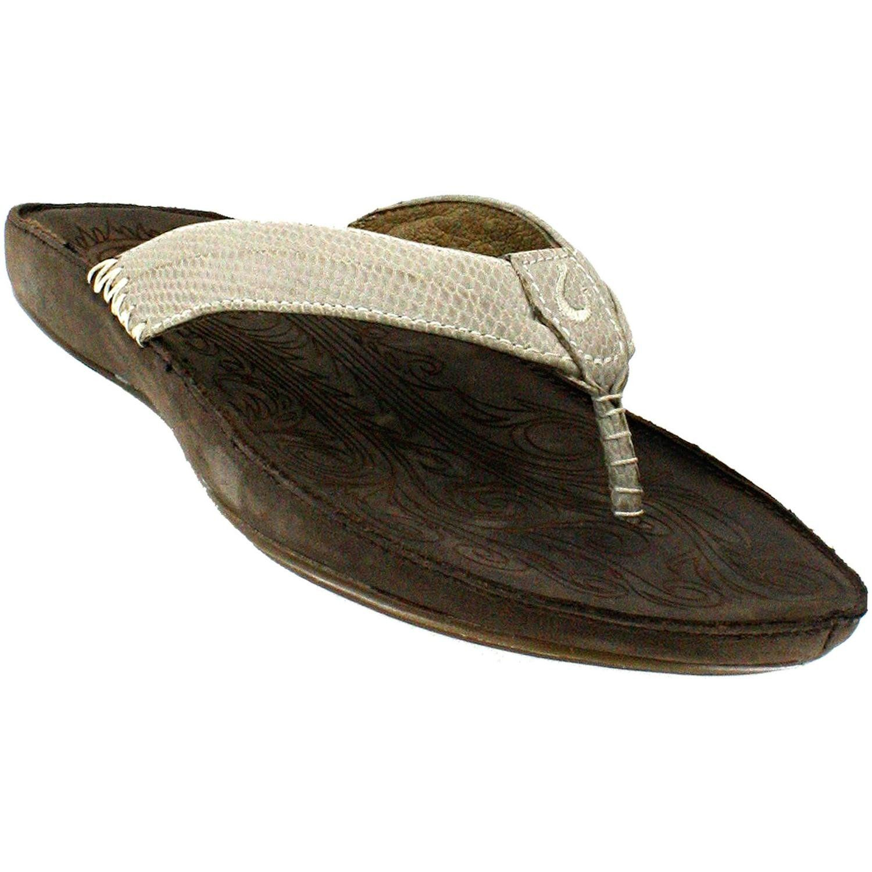 1efc653907ecfa OluKai Haiku  Elua Sandal - Women s Off White   Dark Java 9. Upper  Premium  full grain antiqued leather with pigskin lining.