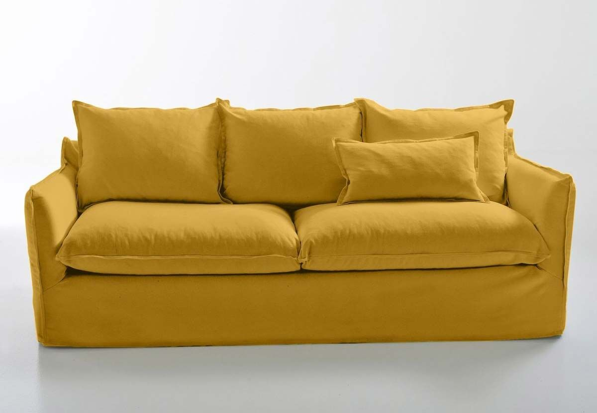 Canape Jaune 21 Idees Deco Pour Le Salon Canape Jaune Canape En Coton Et Canape