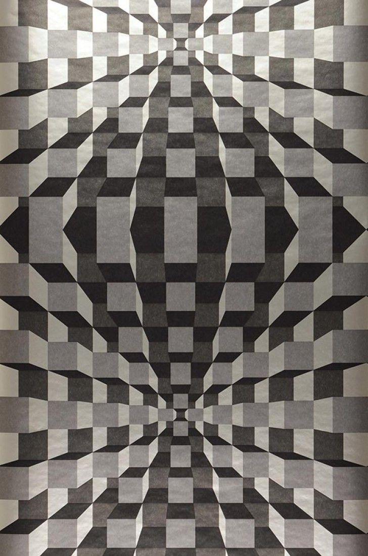 Wallpaper Illusion In 2020 Illusions Geometric Art Geometry Art