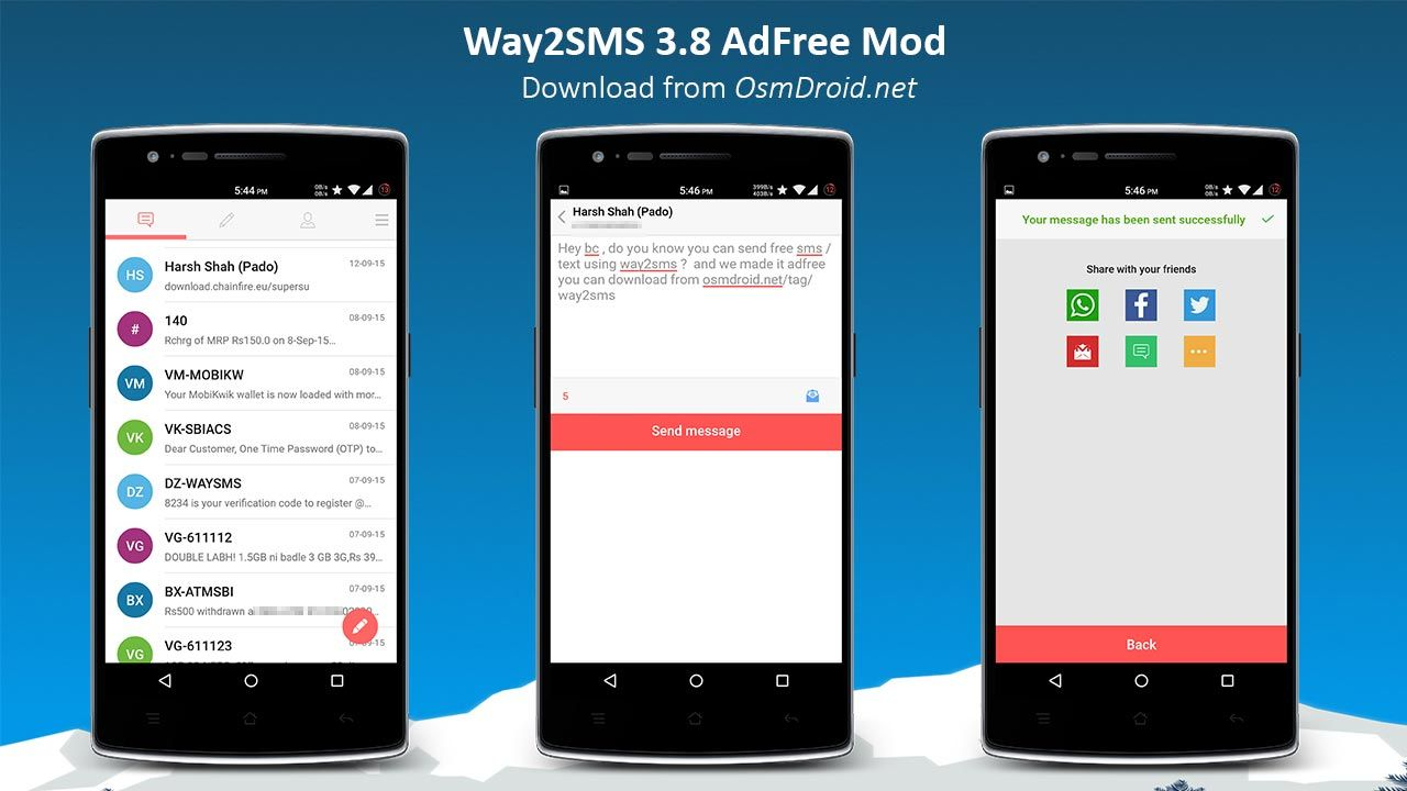 ApkLio Apk for Android Way2SMS v3.8 AdFree Mod apk