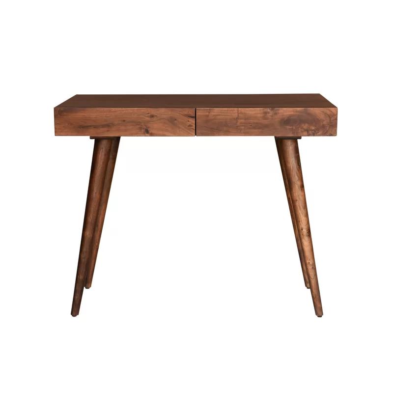 Chicago Solid Wood Desk In 2020 Solid Wood Desk Wood Desk Solid Wood