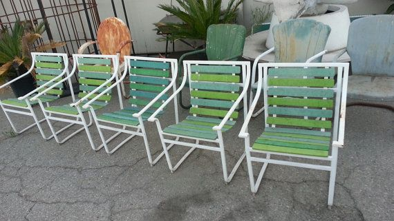 1960s Samsonite Patio Chairs Samsonite Patio Furniture 5 Vintage Samsonite  Flatbar Metal Patio Chairs Blue U0026