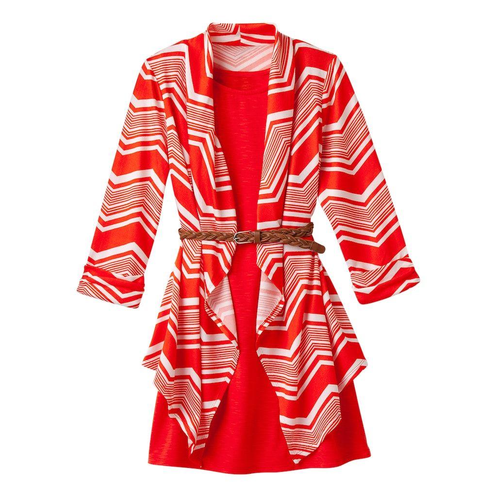 ffd4616a3 Girls 7-16 My Michelle Sleeveless Dress   Cardigan Set