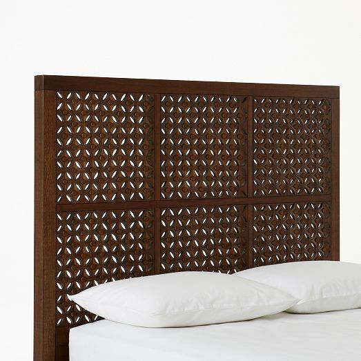 DONE queen sized Carved Headboard - Café | west elm | Steve ...
