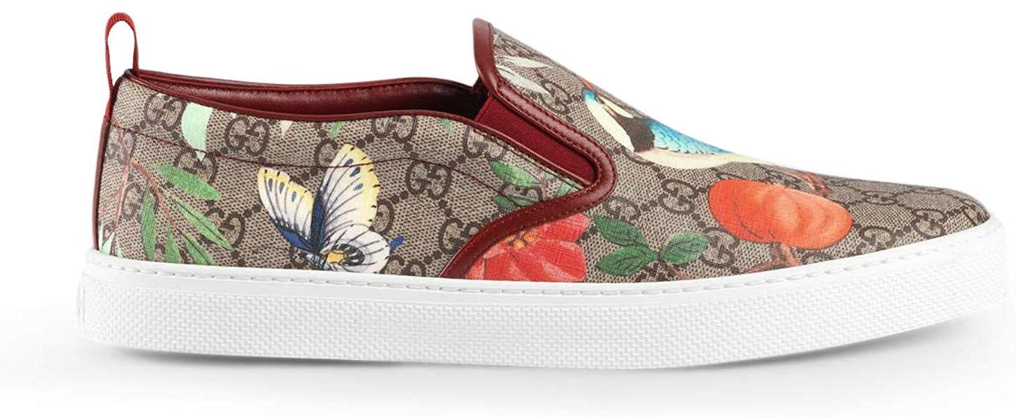 f8daea060 Amazon.com: Gucci Men's Dublin Tian GG Supreme Slip-On Sneaker, Multicolor  (9.5 US / 9 UK): Shoes