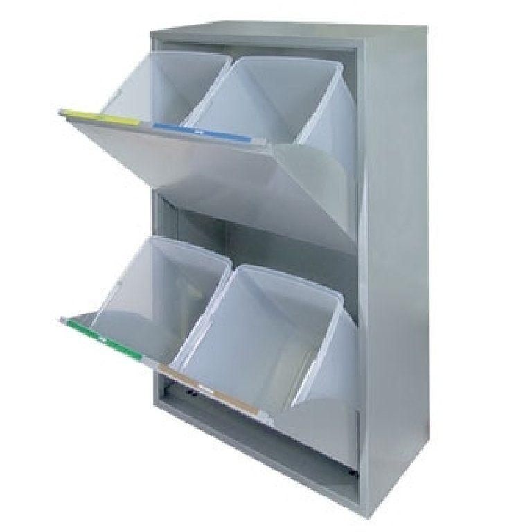 Cubos de basura de reciclaje para espacios reducidos - Reciclar muebles de cocina ...